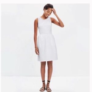Madewell White Fringed Afternoon Short CasualDress